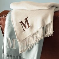 Monogrammable Throw