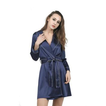 High Grade Satin Chiffon Robe