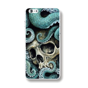 Individualistic Skull Octopus Pattern Rigid Plastic Phone Case Cover Shell for iPhone 6 6s 4.7'' Inch