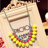 Stylish Shiny Jewelry Gift New Arrival Sweets Korean Accessory Hot Sale Acrylic Necklace [6586260423]