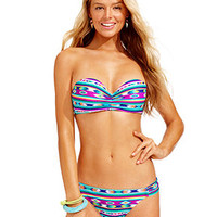 Hula Honey Molded Bandeau Bikini Top & Hipster Bottoms