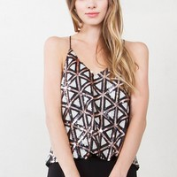 Geometric Shine Top*