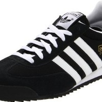 adidas Originals Men's Dragon Fashion Sneaker,Black/White/Metallic Gold,10.5 M US