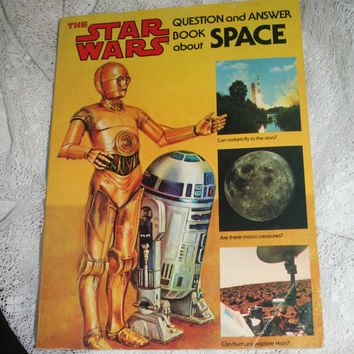 Star Wars Book The Star Wars Question and Answer Book about Space Vintage Science Book for Kids Collectible Star Wars Paperback Book
