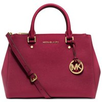 MICHAEL Michael Kors Sutton Medium Satchel | macys.com