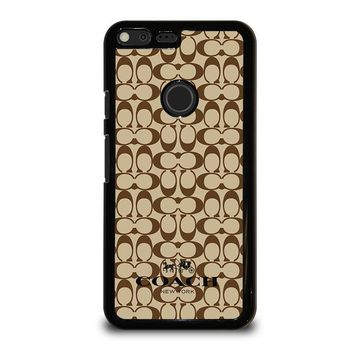 COACH NEW YORK BROWN Google Pixel XL Case Cover
