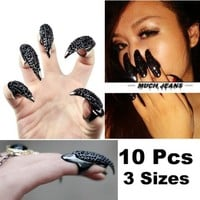 Vktech® 10 Pcs False Nail Claw Paw Talon Finger Finger Ring New (Style I)