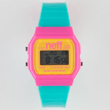 Neff Flava Watch Pink/Cyan One Size For Men 22047995701