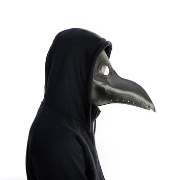 Plague Doctor Mask Birds Long Nose Beak Faux Leather Steampunk Halloween Costume Props
