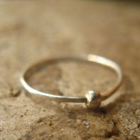 Stacking Ring Sterling Silver Hammered Dot