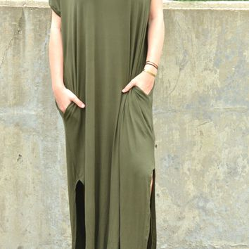 Simple Beauty Dress - Olive