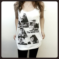 The Wanted I Found You Serie UK Boy Band Women Sleeveless Tank Top Tanktop Tshirt T Shirt S,M,L