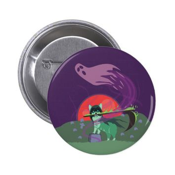 Grim Reaper Puppy Button