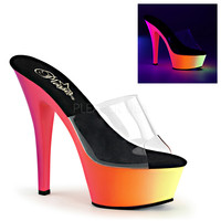 "Rainbow 201UV Platform 6"" Heel Clear Slide Shoe"