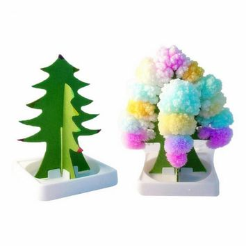 Paper Tree Flowering Toy Creative Colorful Magic Tree Paper Crafts Gift Kids Toys Birthday Gift