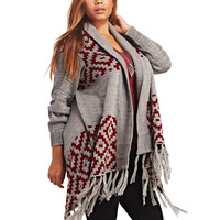 Southwestern Open Cardi | Wet Seal+