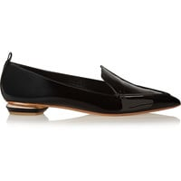 Nicholas Kirkwood - Patent-leather point-toe flats