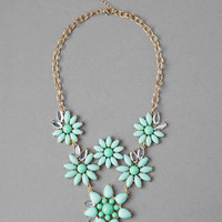 PINECREST FLORAL STATEMENT NECKLACE