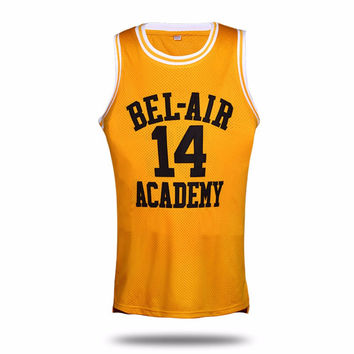 95808457081 VTURE Basketball T-shirts Will Smith  14 Bel Air Academy Basketb