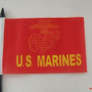 U.S. Marine Military Desk Table Flag 4 x 6 / with Stand or Without Stand