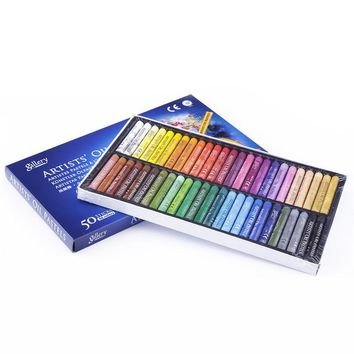 50 Colors/Set Children Oil Pastel Graffiti Colored Pen Drawing Stock Set Art Set School Art Supplies Wax Crayons