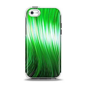 The Green Vector Swirly HD Strands Apple iPhone 5c Otterbox Symmetry Case Skin Set