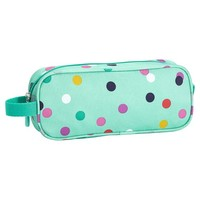 GEAR-UP MINT CONFETTI MULTI DOT PENCIL CASE