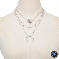 Moon Crystal Layered Necklace