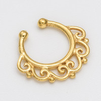 Fake Septum Ring. gold septum ring. indian septum ring. septum piercing. septum jewelry. fake septum ring. faux septum ring. gold septum.