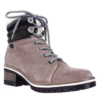 Anne Klein Sport Langstyn Lined Lace Up Snow Boots, Dark Natural Multi, 8.5 US