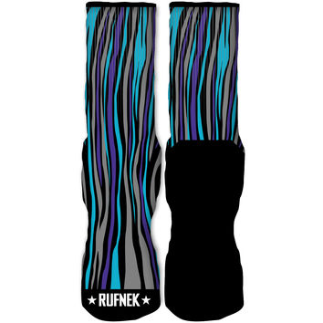 Rufnek Hardware Low End Aqua 8s Socks