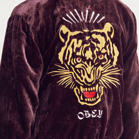 OBEY Sabre Velvet Bomber Jacket | Urban Outfitters