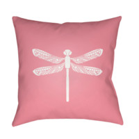 Dragonfly Pillow ~ Pink