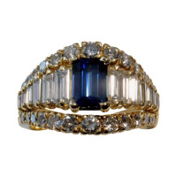 ASTOUNDING! Magnificent 4.06tcw UNHEATED Blue Sapphire & Diamond Ring