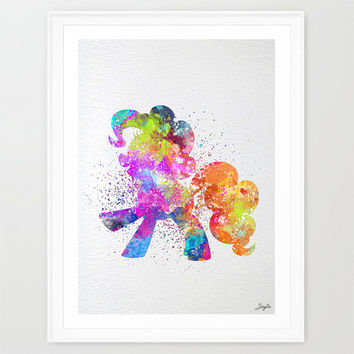My Little Pony Watercolor Art Print,Nursery Decor,Kids Wall Art,Child's Room Art, Horse,Motivational/Inspirational Print, #233