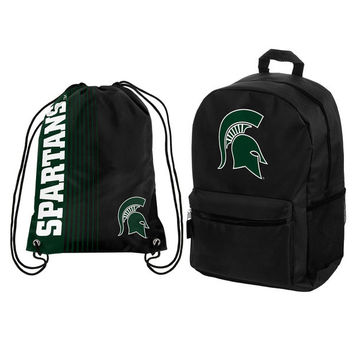Michigan State Spartans Backpack & Drawstring Bag Combo Pack