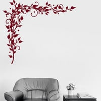 Vinyl Decal Branches Leaves Patterns Home Floral Decoration Wall Stickers (ig3115)