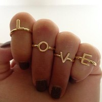 love midi rings set