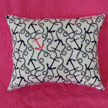 New Pillow made with Lilly Pulitzer Multi Ahoy There fabric
