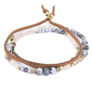 Natural Stone Bracelet or Necklace