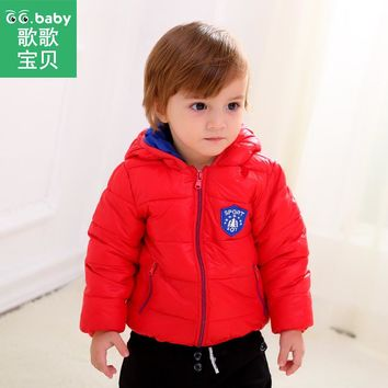 Hooded Kids Winter Jackets For Girls Clothes Down Jacket Baby Boy Coat Zipper Snowsuit Children's Overalls Clothing For Newborns
