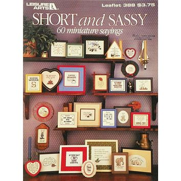 Short and Sassy - Counted Cross Stitch Leaflet - Leisure Arts