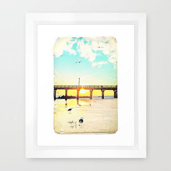 Coney Island Print, Coney Island Photography, Sunset Print, Boardwalk Print, Nursery Decor, Beach Landscape Coney Island 8x10
