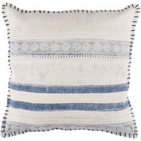 Overcast Stripe Blue Indigo Throw Pillow