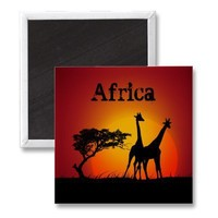 Africa magnet from Zazzle.com