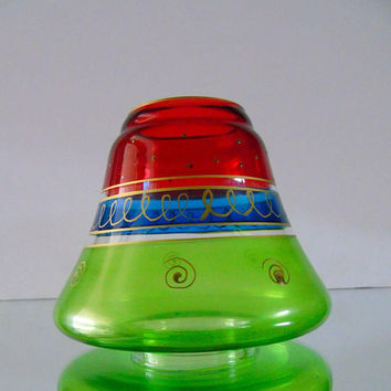 Replacement Light Shade Colored Glass Green Blue Red Bell Shape Wall Sconce Chandelier Fan Lampshade