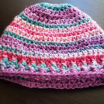 Crochet Messy Bun Hat Ear Warmer Bright Colors