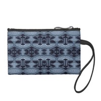 Art Deco Flair - Shades of Blue Change Purses