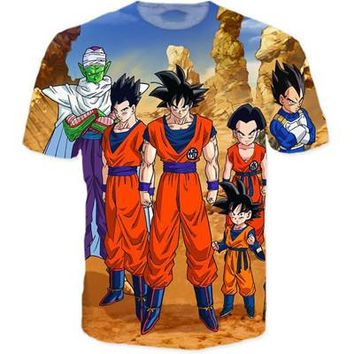 Dragon Ball Z Japanese 3D Short Sleeve Anime T-Shirt V25