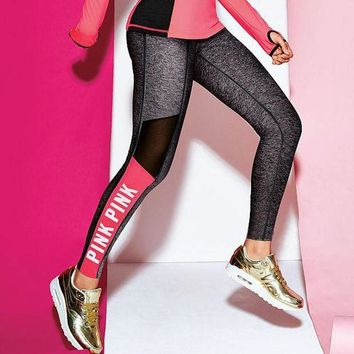 victoria s secret pink women s fashion print exercise fitness gym yoga running leggings sweatpants